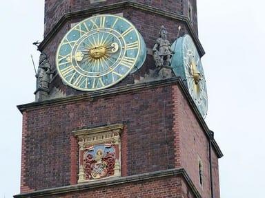ratusz wrocław zegary